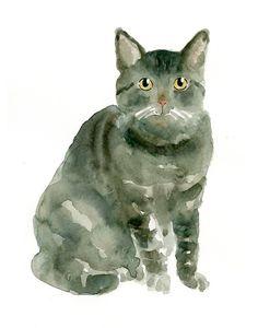 Cat by DIMDI, watercolor