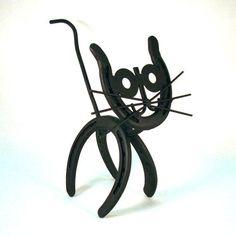 Cat Horseshoe Art by CrookedCreekStudio1 on Etsy, $30.00 by angel