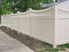 privacy fence designs | ... Good Neighbor Privacy Fence With Scalloped Top Rail by Elyria Fence