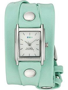 La Mer Collections LA MER SPECIAL EDITION 001 Silver-Tone Bracelet Watch with Wraparound Strap ❤ La Mer Collections
