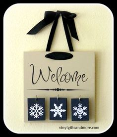 Kit - Welcome Board with Tiles-Welcome Board with tiles, kits, seasons, christmas, halloween, spring, summer, fall, winter
