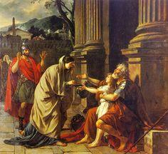 Jacques-Louis David, Belisario chiede l'elemosina, 1781, olio su tela, 2,88 m x 3,1, Palais des Beaux-Arts de Lille.
