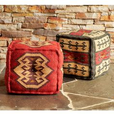 Wisteria - Furniture - Poufs & Stools -  Tribal Pouf - Harmony - $179.00