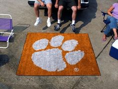 Clemson Tigers 5x8 In/Out Door Ulti-Mat Tailgate Area Rug/Carpet