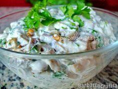 Salata de ciuperci cu nuca Guacamole, Potato Salad, Potatoes, Ethnic Recipes, Food, Meal, Potato, Essen