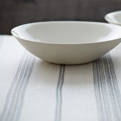 Grey Striped Cotton Tablecloth by Creative Women