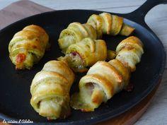 Découvrez la recette Croissants à l'italienne : jambon cru, mozzarella et pesto sur cuisineactuelle.fr.