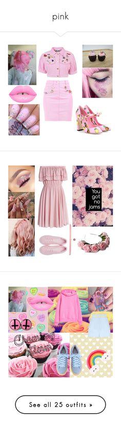 """pink"" by masha-besogonova on Polyvore featuring мода, Moschino, Dolce&Gabbana, Zara Taylor, Chicwish, adidas Originals, Joomi Lim, JULIANA, Zimmermann и Love Moschino"