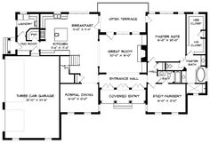 Georgian House Plan with 4574 Square Feet and 5 Bedrooms from Dream Home Source | House Plan Code DHSW53353 (1/2)