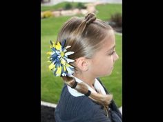 Top Knot into Banded Side Pony video tutorial