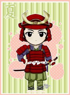 Sengoku Summer 2 by Hanami-Mai Sengoku Period, Warring States Period, Japanese Culture, Karate, Samurai, Chibi, Minnie Mouse, Disney Characters, Fictional Characters