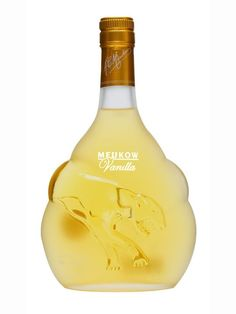 A vanilla liqueur from Meukow, blending together their cognac and natural vanilla to accentuate the vanilla notes already present in the cognac. Vanilla Liqueur, Bartender, Whisky, Rum, Packaging Design, Liquor Cabinet, Alcohol, Bottle, Stuff To Buy