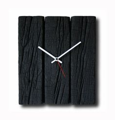 Burned wood clock Home decor Original clock Hand made от Inthetime