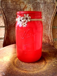 Lovely Summer Mason Jar! by ToastyBarkerBoutique on Etsy