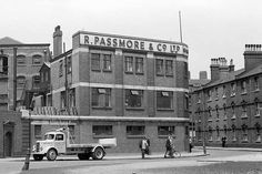 R. Passmore  Co., Limehouse, London. (Part of the area covered by the Midwives and Nuns of Nonnatus House in Call The Midwife)