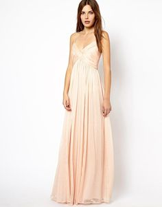 Mango | Mango Chiffon Ruch Maxi Dress at ASOS