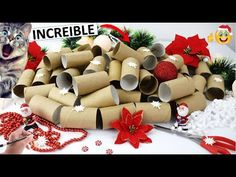 Christmas Calendar, Advent Calendar, Christmas Deco, Christmas Crafts, Toilet Paper Roll, Creations, Arts And Crafts, Gift Wrapping, Diy