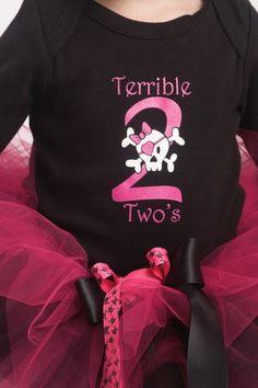 OOAK Second Birthday Tutu Set ~ Terrible Twos Tutu ~ Punk ~ Pirate ~ Skulls | eBay $75.00