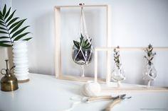Do it yourself Creating plant frames handmade - Samantha Smith Diy Décoration, Easy Diy, Handmade Home Decor, Diy Home Decor, Room Decor, House Painting Cost, Contemporary Interior Design, Diy Planters, Diy Frame