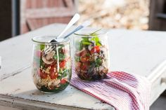 A simple-to-make lunch salad you can easily take to work or on a picnic.
