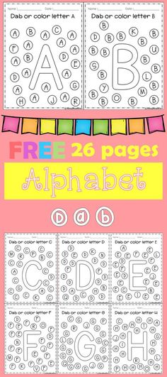Freebies Alphabet Dap A-Z 26 pages. For PreK and Kindergarten.FREE Freebies Alphabet Dap A-Z 26 pages. For PreK and Kindergarten. Preschool Letters, Learning Letters, Kindergarten Classroom, Preschool Activities, Kindergarten Freebies, Letter Recognition Kindergarten, Teaching The Alphabet, Preschool Literacy Activities, Kindergarten Literacy Centers