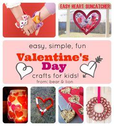 valentine's day, kids crafts, heart crafts