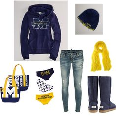 Go Blue!  Michigan Wolverines Game Day...minus the skinny jeans. #ultimate tailgate #fanatics
