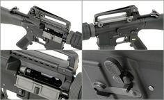 A.W.S.S. WE-M16A3 GBB TYPE with open bolt system - black [WE] Rifles, Airsoft, Type, Black, Black People, Guns