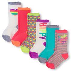 s Happy Crew Socks 6-Pack - Multi - The Children's Place