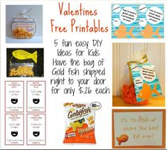 Looking for a clever low cost Valentines Day gift idea? Check out these awesome FREE printables... Print them free here.  Happy Valentines Day Off all the fish in the sea, I'm glad we swim in the same SCHOOL  How cute as they, print them out...