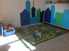 Love the addition on the wall. Classroom Environment, Classroom Themes, Block Center Preschool, Kindergarten, Preschool Rooms, Block Area, Family Child Care, Toddler Classroom, Programming For Kids