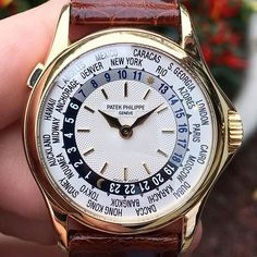 Patek Philippe World Time 5110 in yellow gold landed @europeanwatchco yesterday and will soon be #forsale Travel with class people!!! ⛵️ #forsale #patekphilippe #5110 #worldtime #europeanwatchco