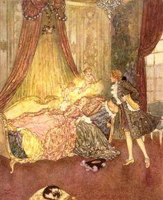 Edmund Dulac Illustration Sleeping Beauty