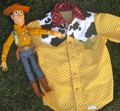 Cowboy Woody Shirt Costume Toy Story Boys by MadiBethCreations, $39.00