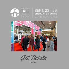 Tickets are now available for our next show! Link is in profile. #ShapeYourSpace #FallHomeShowTO #HomeShows #Toronto #Events #TorontoHomeShows #TorontoEvents