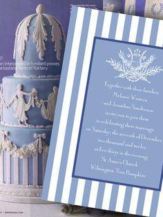 Wedding cake and invitations