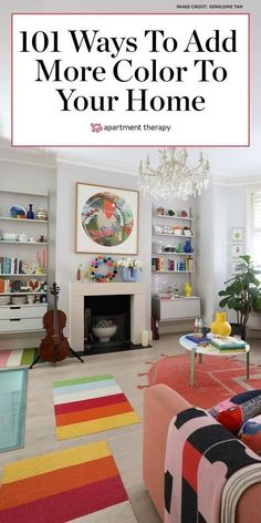 Here's how to decorate with color at home 101 different ways. #color #colorfuldecor #colorfuldecorideas #colorpalette #paintideas #designtrends #paintprojects #colorscheme