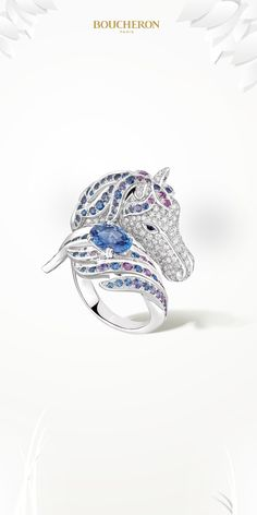 """Mount of """"heroes of the light and swift riders"""", the horse is one of man's most faithful companions. A partner for thousands of years, he is a symbol of fidelity, perseverance and nobility. #BoucheronAnimals"""