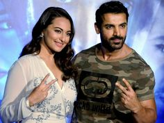 'Force 2' stars John Abraham and Sonakshi Sinha took up the #mannequinchallenge in 'Force 2' style at the @city1016 office yesterday in Dubai