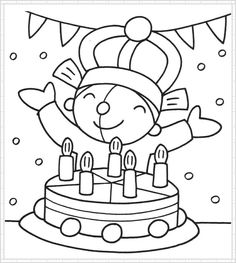 * Pompom is jarig! School Birthday, Birthday Board, Birthday Fun, Colouring Pages, Coloring Sheets, Coloring Books, Happy Birthday Coloring Pages, Sprinkle Party, Book Markers