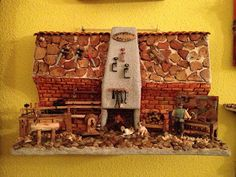 MANUALIDADES LA ANDALUZA: TEJAS Miniature Houses, Fairy, Bottle, Painting, Xmas, Clay Houses, Clay Tiles, Craftsman Houses, Jelly Beans