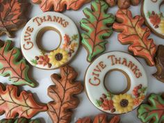 Stunning Thanksgiving Cookies | #thanksgiving #autumn #holiday #food #desserts #baking