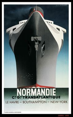 Cassandre normandie poster - Google Search