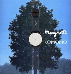 An unmarked #mirror dial gives a subtle nod to #Magritte's work, so even if you can't see your reflection in this mirror, you're still enjoying a work of #art in this @Komono #watch. #surrealism #unique #sportique #sportiquesf #SixteenthofSeptember