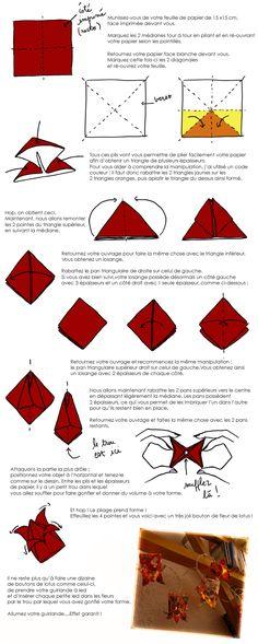 DIY guirlande lotus origami