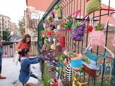 6a guerrilla ganchillo: plantbombing | Flickr - Photo Sharing!
