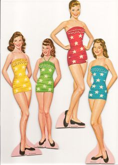 1957 Lennon Sisters paper dolls.  I had these when I was young.