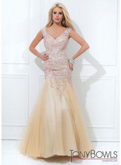 Tony Bowls Evenings TBE11406 Nude/Ice Pink Dress