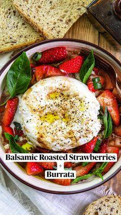 Veggie Meal Plan, Veggie Recipes, Gluten Free Recipes, Healthy Recipes, Vegetarian Appetizers, Appetizer Salads, Appetizer Recipes, Migraine Diet, Roasted Strawberries