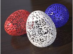 Floral 3D printed Easter Egg by mkermol